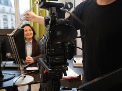 Catherine Aliotta en tournage